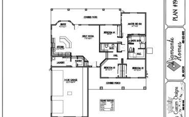 Plan 1900 - 4 bedroom, 3 car side garage