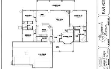 Plan 2311 - 4 bedrooms or 3 bedrooms,  4 car front garage