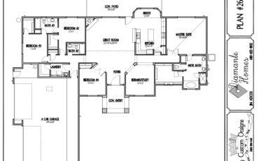 Plan 2673 - 5 bedroom  or  4 bathrooms with study, 4 car garage