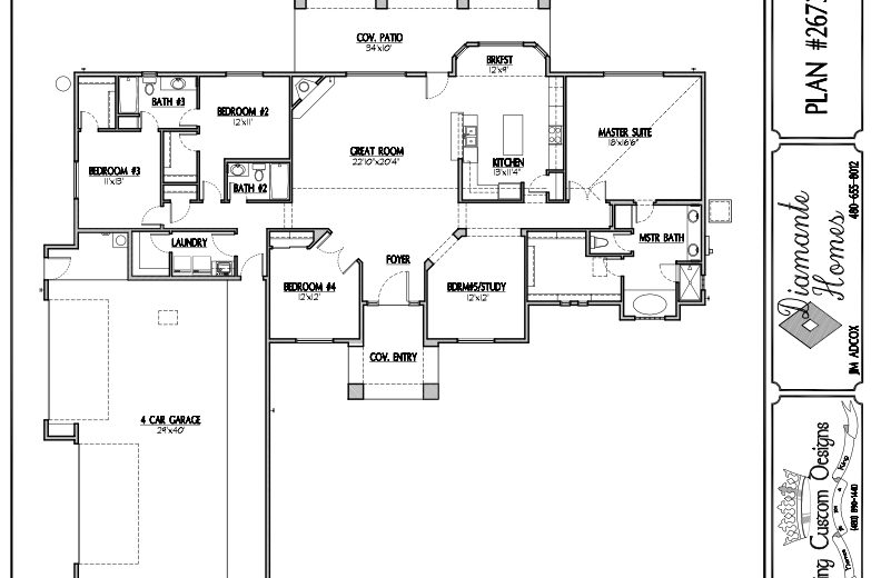 Plan 2673 - 5 bedroom  or  4 bathrooms with study, 4 car garage